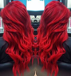 TOP hairstyles that you will love! Weekly hair collection: 31 TOP hairstyles that you will love!Weekly hair collection: 31 TOP hairstyles that you will love! Red Hair Color, Cool Hair Color, Hair Colors, Top Hairstyles, Pretty Hairstyles, Bright Red Hairstyles, Hairstyle Ideas, Crimson Red Hair, Beautiful Hair Color