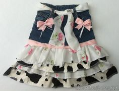 BOUTIQUE Baby Girl Custom Pageant upcyled Jean by TheCutestCowgirl, $45.00