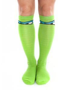 Teenage Mutant Ninja Turtle Leonardo Knee Socks