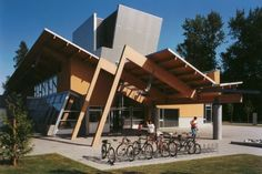 an architecture and design research studio based in Vancouver, Canada Library Architecture, Concept Architecture, Futuristic Architecture, Residential Architecture, Amazing Architecture, Architecture Details, Architecture Models, Facade Design, Roof Design