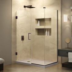 "DreamLine Unidoor Plus 30"" W x 59"" D Hinged Shower Enclosure"