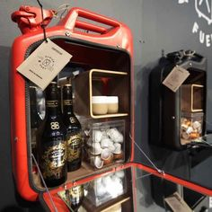 Old Jerry Cans transformed into stylish cabinets