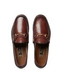 Gucci 1953 Horsebit leather loafer - Gucci Horsebit Loafer - Ideas of Gucci Horsebit Loafer - Shop the 1953 Horsebit leather loafer by Gucci. Our 1953 Horsebit loafer in leather. Mens Moccasins Loafers, Loafers Outfit, Leather Loafers, Loafer Shoes, Loafers Men, Leather Men, Brown Leather, Brown Loafers, Sock Shoes
