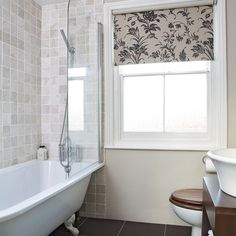Chic bathroom | Bathroom designs | Bathroom flooring | housetohome.co.uk