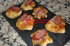Recopilatorio de recetas thermomix: Aperitivo de pizza con la masa al estilo Telepizza, Pizza Hut o Domino´s Pizza en thermomix Pizza Hut, Tapas, Griddle Pan, Catering, French Toast, Meat, Breakfast, Food, Salmon Appetizer