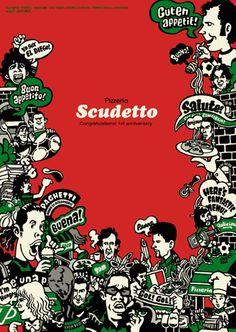 PIZZERIA SCUDETTO(イタリアンレストラン/ピッツェリア・スクデット)カルチョ・スター似顔絵
