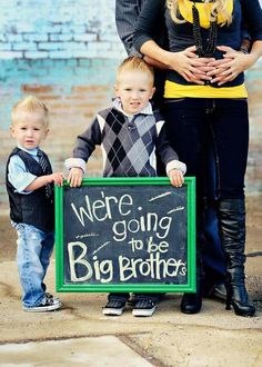 we're going to be big brothers!