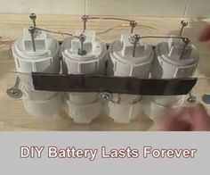 DIY Battery Lasts Forever - Homesteading - The Homestead Survival .Com - DIY Battery Lasts Forever – Homesteading – The Homestead Survival . Survival Food, Homestead Survival, Wilderness Survival, Outdoor Survival, Survival Knife, Survival Prepping, Emergency Preparedness, Survival Skills, Survival Supplies