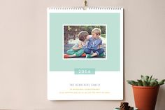 Happy Reminder Grand Calendars by Karidy Walker at minted.com