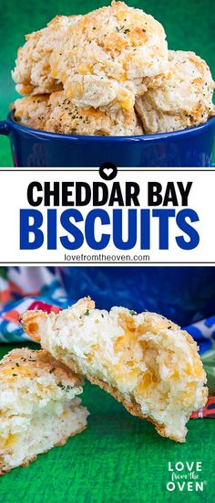 Make your own Red Lobster Cheddar Bay Biscuits at home with this easy copycat recipe. We love these, especially with soups and stews. #biscuits #cheddar #cheese #garlic #redlobster #cheddarbay #copycatrecipe #recipes #bread #rolls #lftorecipes