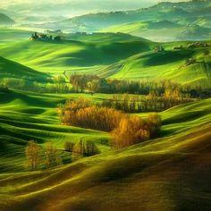 Moravian field, Czech republic - by Krystof Browko