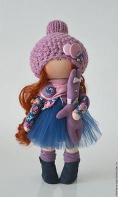 Купить Интерьерная текстильная кукла - кукла ручной работы, кукла интерьерная, кукла текстильная