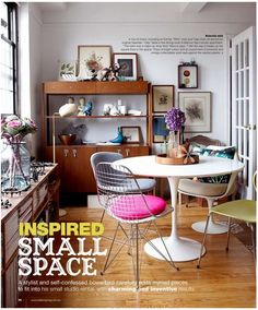 interior design, dining rooms, dine, chairs, decorating ideas, interiors, tulip, kitchen, small space