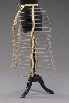 Cage Crinoline   c.1870-1872  The Metropolitan Museum of Art