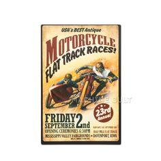 Placa Madeira Motorcycle Race - Machine Cult | A loja das camisetas de carro e moto
