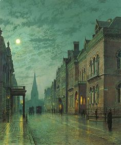 John Atkinson Grimshaw- Park Row, Leeds - 1882 - Leeds Art Gallery