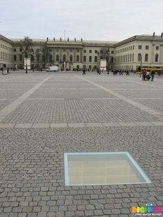 "Bebelplatz (known as the site of the infamous Nazi book burning ceremony in 1933. Approximately 20,000 books were destroyed). ""Where they burn books, they ultimately burn people""  Berlin, Germany"