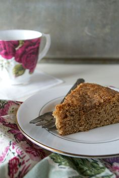 Paleo Cinnamon Coffee Cake (made with coconut flour and arrowroot starch)