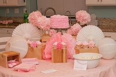 Pink baby shower I Party