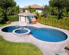 Pool on steep slope traditional pool other metro for Pool design generator
