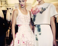 Backstage at Carolina Herrera Spring/Summer 2015 RTW at New York Fashion Week, photo by Taylor Jewell.