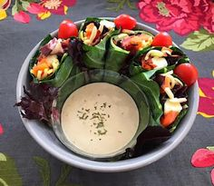 Points In My Life: Collard Green Snack Wraps with Lemon-Tahini Dipping Sauce