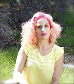 pink! Hair by Amy Wolf
