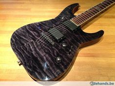 LTD MH400NT, Quilted Maple top, See Tru Black - Te koop