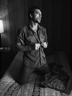 Javier Bardem,  I would like to find him on my bed like this.....