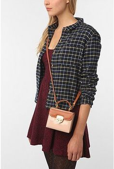 cooperative patent boxed crossbody bag, $30