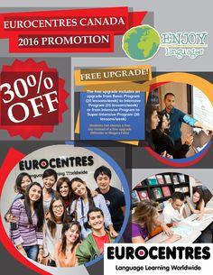 #PromociónDelDía con Eurocentres #Canadá Estudia inglés en  #Toronto ó #Vancouver y ¡obtén -30%! además un viaje a las increíbles Cataratas del Niágara. Solicita tu presupuesto sin compromiso. #EstudiaenelExtranjero