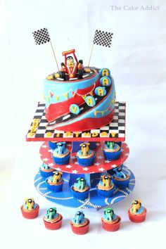 Vroom Vroom.... Lil Aarav is One - Cake by Sreeja -The Cake Addict
