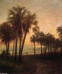 St. John's River, Florida, Oil On Canvas by Herman Herzog (1832-1932, Germany)