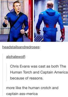 Human Crotch and Captain Ass-merica