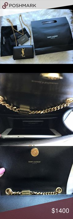 YSL crossbody bag Gently used. Comes with dust bag, authentication card, Saint Laurent paper bag Yves Saint Laurent Bags Crossbody Bags