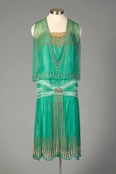 Evening dress, mid-1920s via the Kent State University Museum on Facebook.