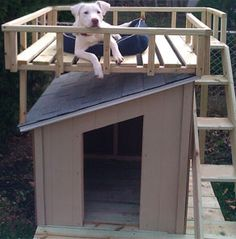 How To Build a Dog House with Sun deck at The Home Depot