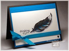 Hands, Head and Heart: Blue Jay Stamp Tv, Feather Cards, Head And Heart, Blue Jay, Wedding Invitation Cards, Cool Cards, Scrapbook Cards, Cardmaking, Birthday Cards