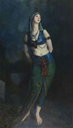 Ruth St. Denis in the Peacock Dance - Robert Henri  1919