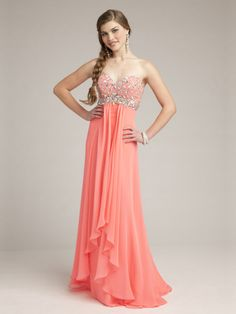 Empire Sweetheart Chiffon Floor-length Rhinestone Military Ball Dresses at pickedone.com