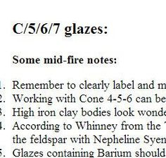 lots of cone 6 functional glaze recipes: Chris Stanley, Associate Professor @UTPB