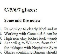 lots of cone 6 functional glaze recipes: Chris Stanley, Associate Professor @UTPB