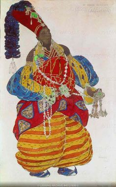 Leon Bakst - The Ballets Russes - Costume for Scheherezade - 1910