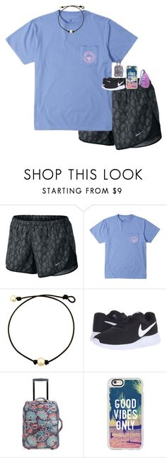 """""""day 1: airport✈️"""" by sophiekathleen13 ❤ liked on Polyvore featuring NIKE, Vera Bradley, Casetify, Kavu and dailypreppvegascalicontest"""