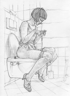 Growing up reading comic books and science-fiction literature in the South-London borough of Lewisham, it is no surprise that Mode art is fun and frivolous. Life Drawing, Drawing Sketches, Art Drawings, Drawing Drawing, Figure Painting, Figure Drawing, Anatomy Drawing, Anime Comics, Art Sketchbook