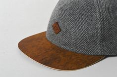 Hey, I found this really awesome Etsy listing at https://www.etsy.com/listing/236263504/grey-tweed-snapback-hat-with-wooden-brim