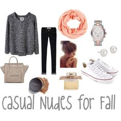 Mini Celine Tote. Grey knit sweater . Skinny jeans. Bare Minerals . Chloe perfume . Converse outfit . White converse. Top knot . Michael Kors . Fall outfit . Casual nudes for fall . casual fall outfit . lookbook0818.blogspot.comxomrsmeasom xo mrs measom