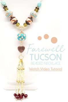 Farewell, Tucson, we'll see you next year. Fight the blues with the teal and copper tones found in the February 2020 Magical Mystery bead box. Today we're unboxing and designing on the spot with Sara Ellis. Watch Necklace, Diy Necklace, Sara Ellis, Diy Jewelry Projects, Beaded Boxes, Necklace Tutorial, Beaded Jewelry, Blues, Jewelry Design