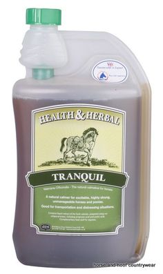 Animal Healath Company Tranquil E A herbal liquid supplement which is prepared from the root of the valerian plant Excessive high spirits can lead to control problems and cause distress.