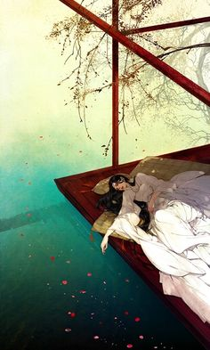 Illustration/Painting by Ibuki Satsuki Anime Art Girl, Manga Art, Art Asiatique, 3d Fantasy, Fantasy Books, Chinese Art, Chinese Style, Asian Art, Japanese Art